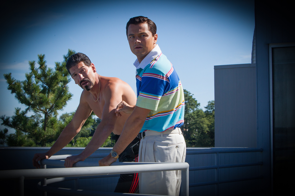 Bernthal and Leonardo DiCaprio in Martin Scorsese's The Wolf of Wallstreet (2013). Property of Paramount Pictures.