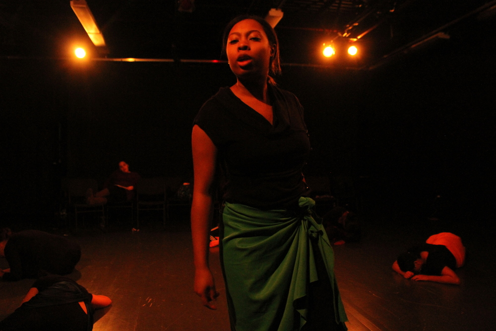 """Brittany Kent '18 as """"Lady in Green.""""Photo: Paris Baillie"""