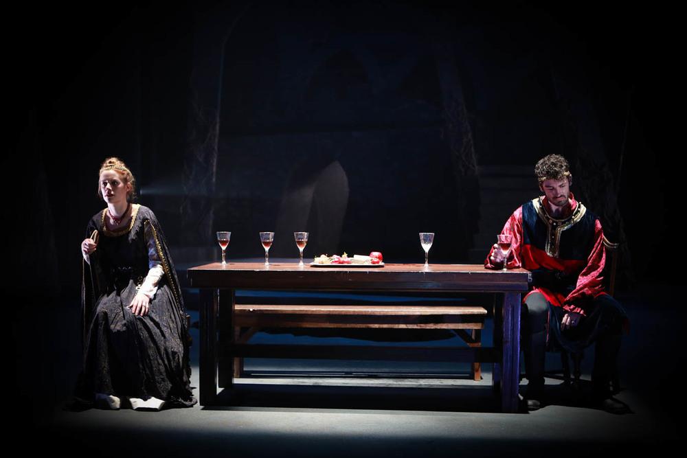 Rigel Harris '16 (Lady Macbeth) and Woodrow Proctor '16 (Macbeth). Photo Credit: Sue Kessler