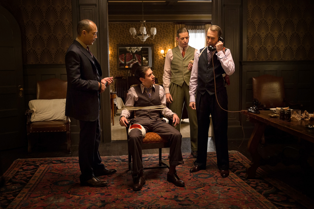 Paul Calderon, Michael Zegen, Paul Sparks, and Steven Buscemi in HBO's Boardwalk Empire.