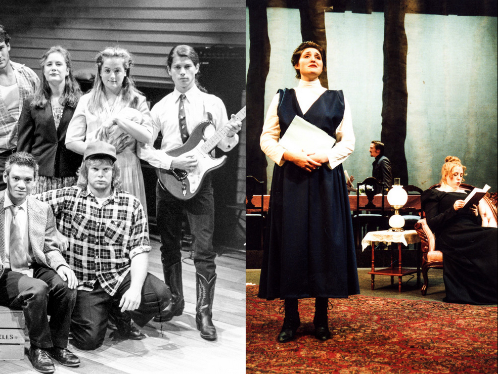 LEFT: Keira Naughton (Left Center) and Liz Wisan (Right) on stage at Skidmore.