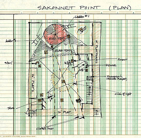 Original plan for Sakonnet Point (1975), drawn by Elizabeth LeCompte
