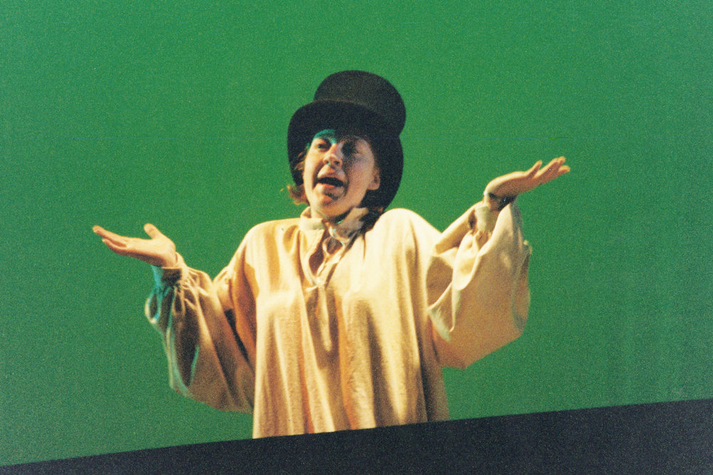 Marzalek-Kelly performs in the Skidmore Theater production of Book of Tink (1999).
