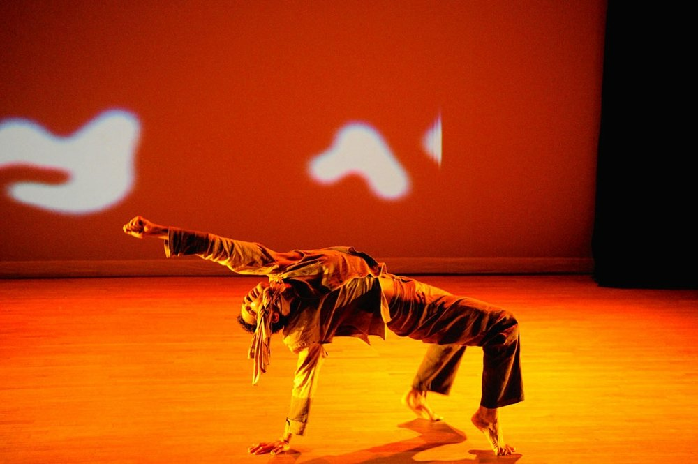 Adam McKinney performs in HaMapah. Photo: DNAWorks