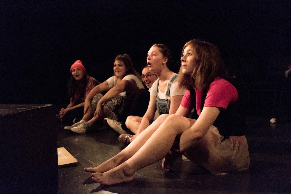 From left to right: Olivia Iannotti '18, Emily Cross '19, Samantha Fleishman '20, Carrie Baker '20, and Audrey Erickson '20. Photo: Dante Haughton '10