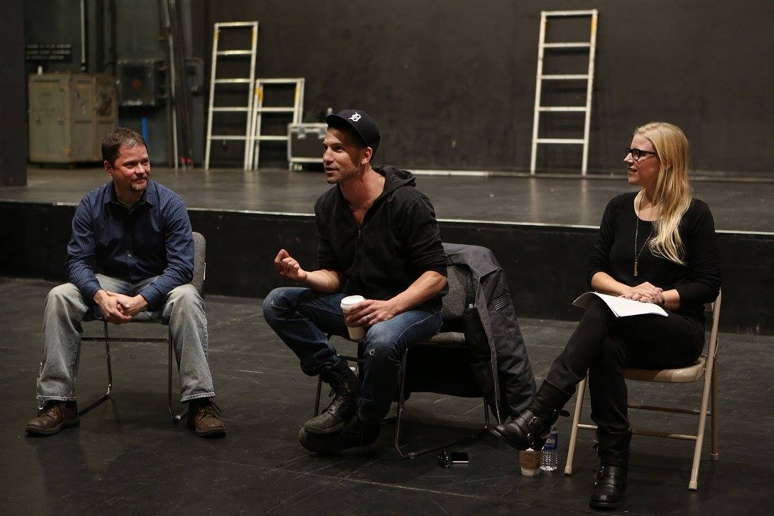 Jon Bernthal answering student questions in the JKB. Photo: Sue Kessler