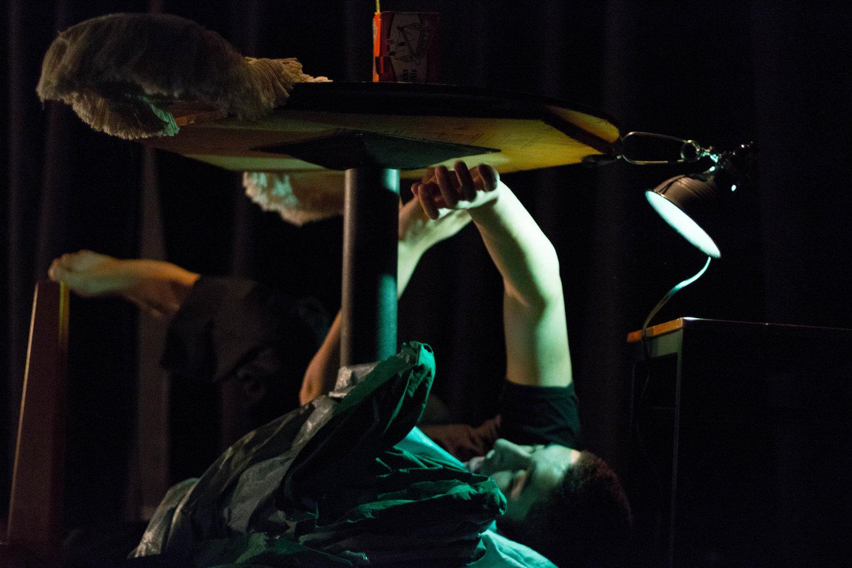 Ethan Embry '19 in The Dali Project. Photo: Dante Haughton '19