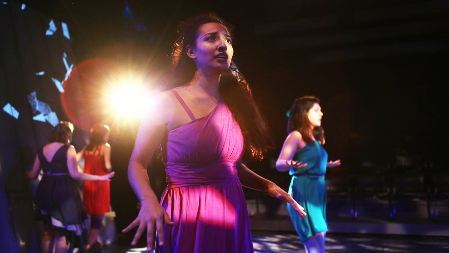 Julianna Quiroz '17 (Penelope Chorus). Photo: Sue Kessler