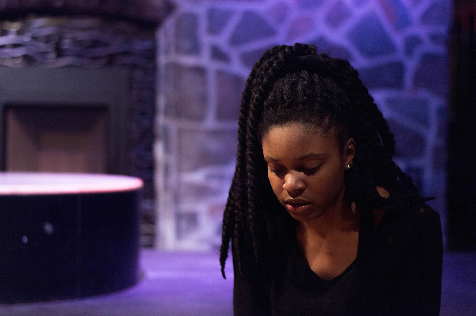 Starr Phillips in rehearsal for Vox: Women